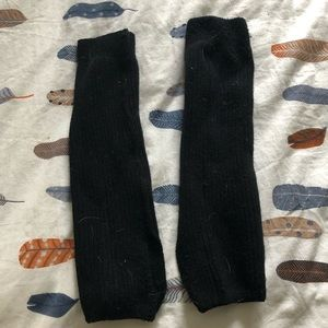 Other - Thick black leg warmers with heel cut out